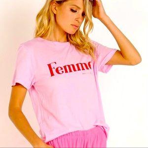 NWOT - spiritual gangster FEMME pink T-shirt